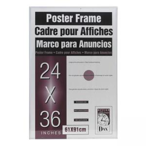 "Burnes Clear U-Channel Poster Frame - 36"" Width x 24"" Height"