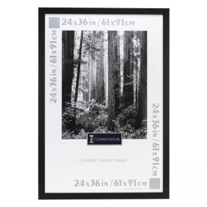 "Burnes Ebony Wood Poster Frame - 24"" x 36"""