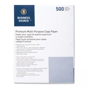 Business Source 3-Hole Punched Multipurpose Paper - 5000 / Carton - White
