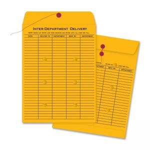 Business Source Interoffice Envelope - 100 / Carton - Kraft