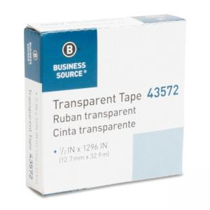 Business Source All-purpose Glossy Transparent Tape