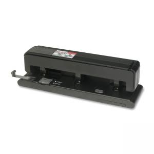 Business Source 62878 Manual Hole Punch - 1 Each - Black