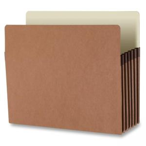 Business Source Accordion Expanding File Pocket - 10 /box - Redrope