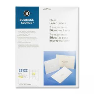 Business Source Clear Address Laser Labels - 750  Pack - Clear
