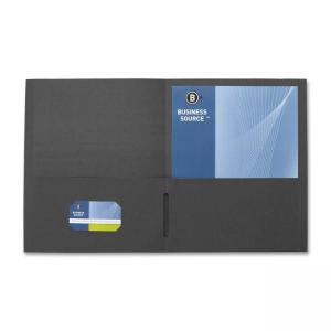 Business Source Double Pocket Portfolio - Black