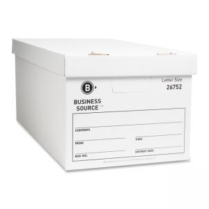 "Business Source File Storage Box - 10"" Height x 12"" Width x 24"" Depth"