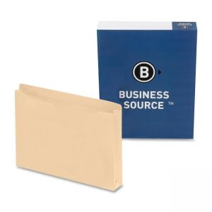 Business Source Flat File Pocket - 50 / Box - Manila