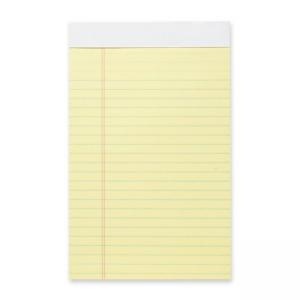 Business Source Legal Ruled Pad - Jr.Legal - 12 / Dozen - 50 Sheets
