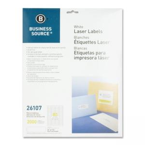 Business Source Return Address Labels - White - 2000 / Pack