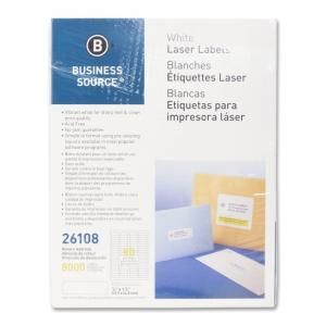 Business Source Return Address Labels - 8000 / Pack - White
