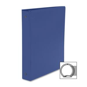 "Business Source Round Ring Binder - 1.5"" Capacity - Vinyl Cover"