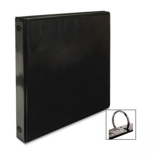 "Business Source Round Ring View Binder - Round Shape - 1"" Capacity"