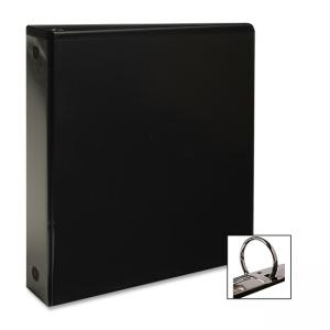 "Business Source Round Ring View Binder - Round Shape - 2"" Capacity"