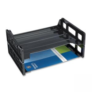 Business Source Side-loading Letter Tray - Black - 1 Each