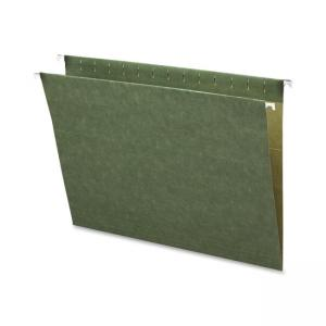 Business Source Standard Hanging File Folder - 25 / Box - Green