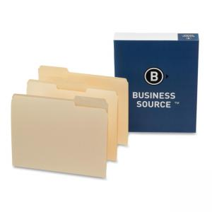 "Business Source Top Tab File Folder - 8.50"" x 11"""