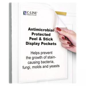 C-line Antimicrobial Peel/Stick Pockets