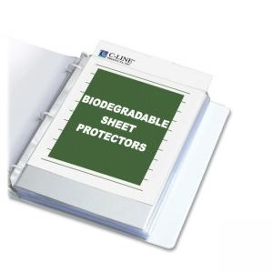 "C-line Biodegradable Sheet Protector - Letter 8.50"" x 11"""