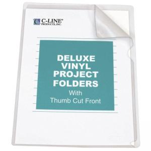 C-line Non-Glare Vinyl Project Folder - Heavyweight Cover