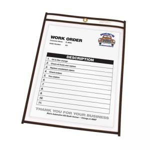 "C-line Stitched Plastic Shop Ticket Holder - 11"" x 14"""