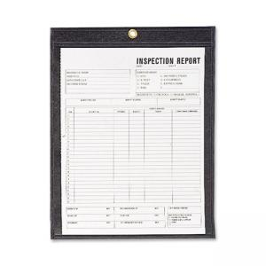 "C-line Stitched Shop Ticket Holders with Black Backing - 8.5"" x 11"""