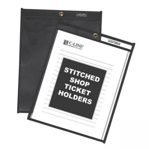 "C-line Stitched Shop Ticket Holders with Black Backing - 9"" x 12"""