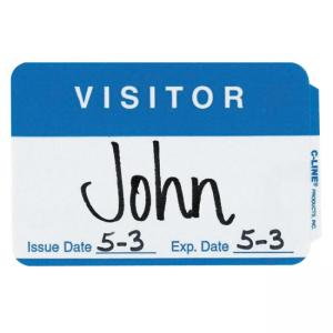 C-line Visitor Badges - 100 / Box - Blue