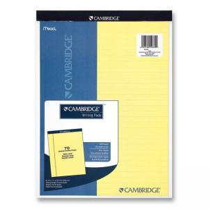 Cambridge Legal Pads - 70 Sheets - Canary