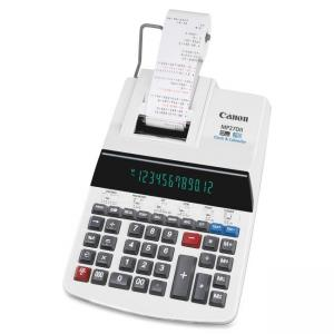 "Canon 12-digit 2 Color Display Printing Calculator - 12 Character(s) - Fluorescent - AC Supply Powered - 3"" x 8.9\"" x 13\"" - Be"