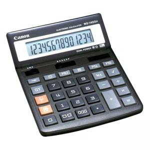 Canon Minidesk Calculator, 14-Digit LCD