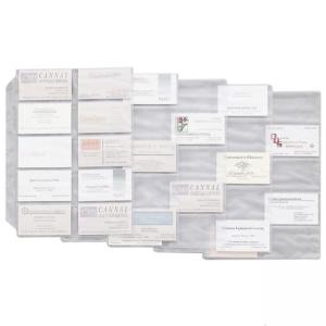 Cardinal Business Card Refill Sheets - Clear - 10 / Pack