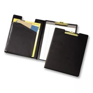 "Cardinal Business Pad Holder with Clip - 8.5"" x 14"" - 1 Each - Black"