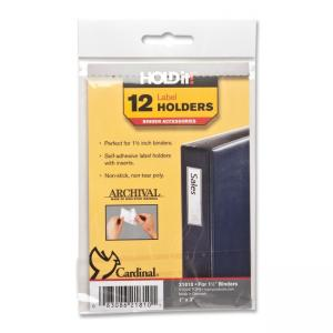 Cardinal HOLDit! Label Holders - 12 / Pack - Clear