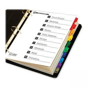 Cardinal Onestep Green Index System- 1 Each - Multicolor Tabs