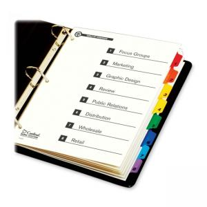 Cardinal Onestep Green Index System - 8 Tabs - 1 Set - Multicolor