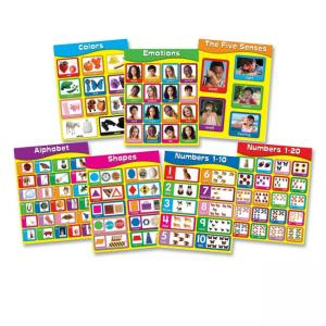Carson-Dellosa Early Childhood Learning Charlet Set - Multi Color