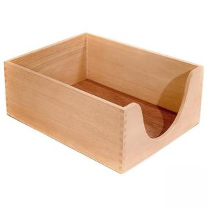 Carver Hedberg Letter Size Double Deep Desk Tray - Oak - 1 Each