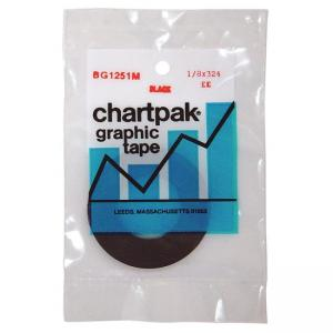 "Chartpak Graphic Tape - 0.12"" Width x 324"" Length - 1 Roll - Black"