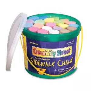 ChenilleKraft Reusable Tub Sidewalk Chalk - Assorted Colors - 20 / Box