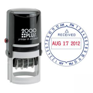 COSCO 2000 Plus Self-Inking Date and Time Stamp