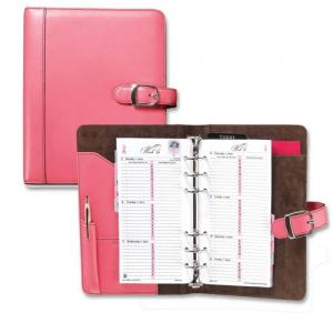 Day-Timer Pink Ribbon Leather Starter Set - 1 Each - Pink Leather Cover