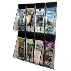 Deflect-o Pamphlet Wall Rack - 1 Each - Clear