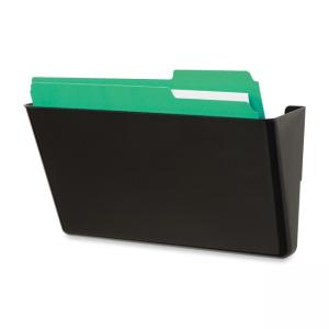 Deflect-o File Pocket - 1 Each - Black