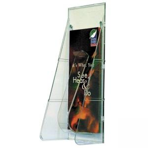 Deflect-o Stand-Tall Leaflet Wall Unit - 1 Each - Clear