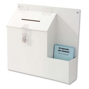 "Deflect-o Suggestion/Ballot Box - 13"" x 13.75"" x 3.62"""