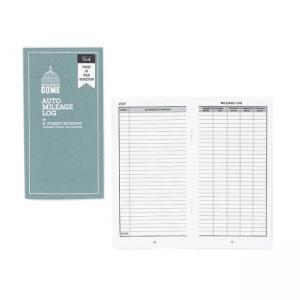 "Dome Publishing Auto Mileage Log 6.25"" Length x 3.25"" Width White"