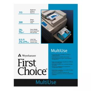 Domtar First Choice MultiUse Copy Paper - 10 / Carton - White