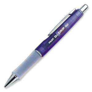 Dr. Grip Retractable Gel Rollerball Pen - 0.7 mm Black Ink - Ice Blue Barrel - 1 Each