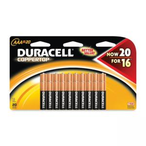 Duracell CopperTop General Purpose Battery AAA - 20 / Pack