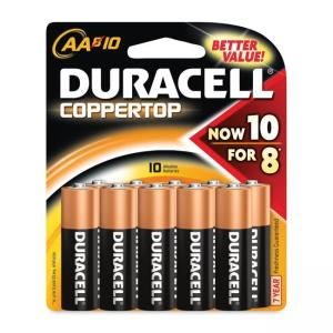 Duracell CopperTop - Size AA - General Purpose Battery - 1.5 V DC - 10 / Pack